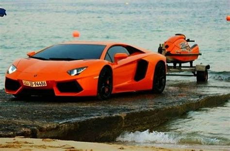Photo Aventador Towing And Launching A Jetski