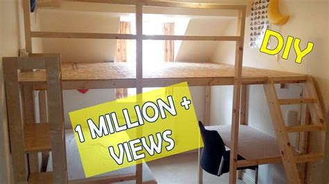 loft bed bunkbed large diy loftbed
