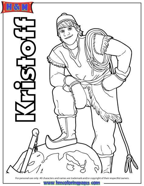 frozen coloring pages kristoff kristoff the mountain man coloring page h m coloring pages