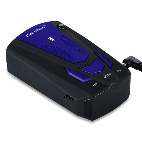 Speed Detector excelvan led 360 176 car radar gps laser gun speed detector