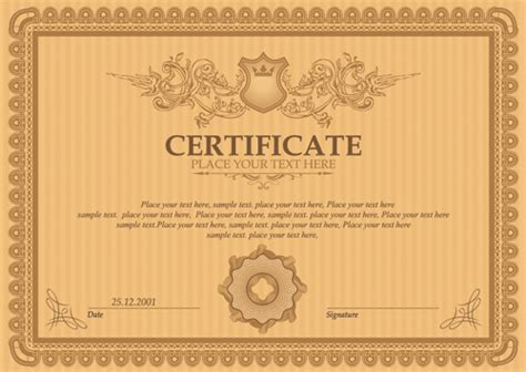 certificate design font free download free vector graphic art free psd graphicp free icons