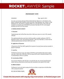 promissory note create a free promissory note