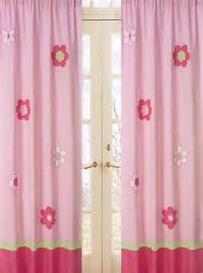 Pink Window Curtains Pink Green Floral Window Curtains For Set Of 2 Drapes Panels