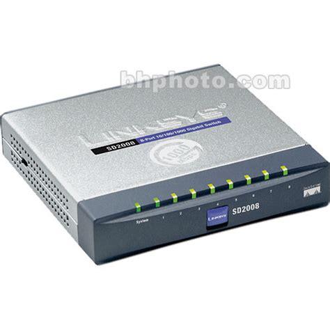 Switch Cisco 8 Port Gigabit cisco 8 port 10 100 1000 gigabit switch sd2008 b h photo