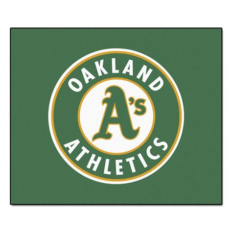 fanmats oakland athletics 5 ft x 6 ft tailgater rug 6412