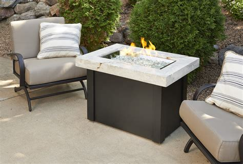 Kitchen Islands With Stainless Steel Tops by New Product White Onyx Providence Fire Pit Table