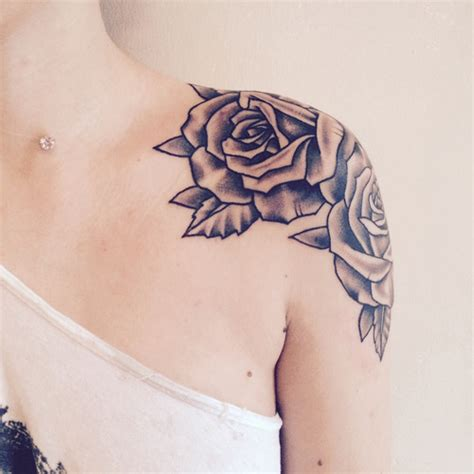 tattoo on shoulder roses rose shoulder tattoo on tumblr