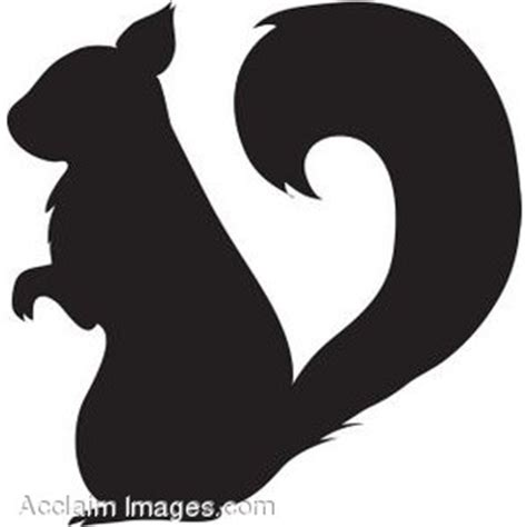 Clip Art of a Squirrel Silhouette   Polyvore