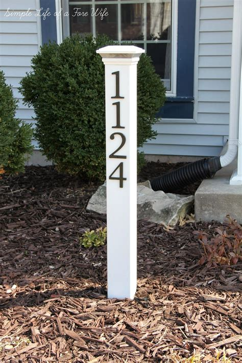 l post address sign simple life of a fire wife house number post diy