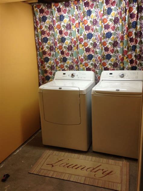 how to hide washer and dryer hide pipes behind washer dryer things to do pinterest