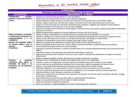Dcn 2015 Minedu Capacidades Y Competencias Del Area De Arte | matriz de competencias minedu 2016