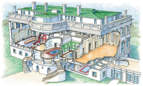 white house diagram the white house cutaway randal birkey illustration