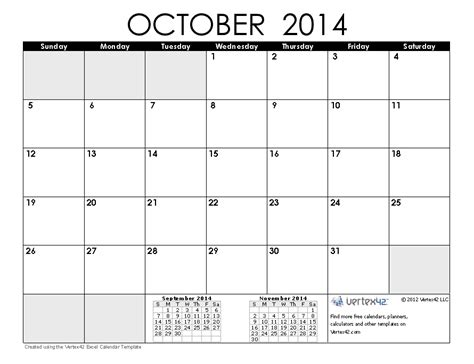 printable monthly calendar august 2014 free printable calendar 2018 october 2014 calendar