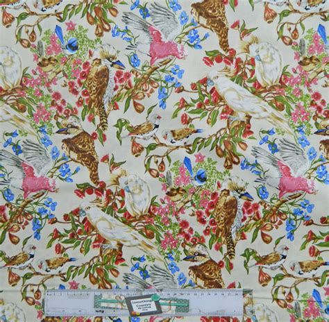 Patchwork Fabrics Australia - quilting patchwork sewing fabric australian bird