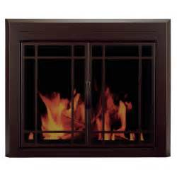 pleasant hearth glass fireplace door pleasant hearth enfield prairie cabinet style fireplace