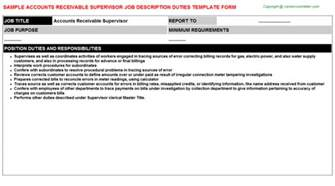 Accounts Receivable Supervisor by Career Counselor Cover Letter Template Cover Letter Exles Accounts Receivable Manager Resume