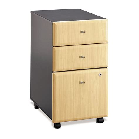 Desk Cabinet With Drawers Bush Series A 60 Wood W 3 Drawer File Cabinet Beech