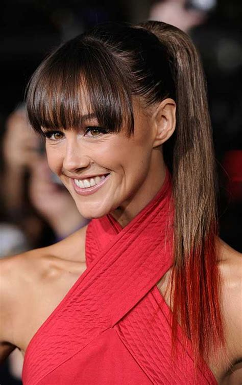 ponytail with tapered bangs hairstyles 15 long ponytail with bangs hairstyles haircuts 2016