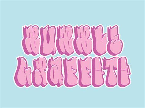 bubble graffiti letters mockofun