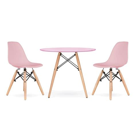 eames chair kinder cult living dsw pastel pink dining set cult