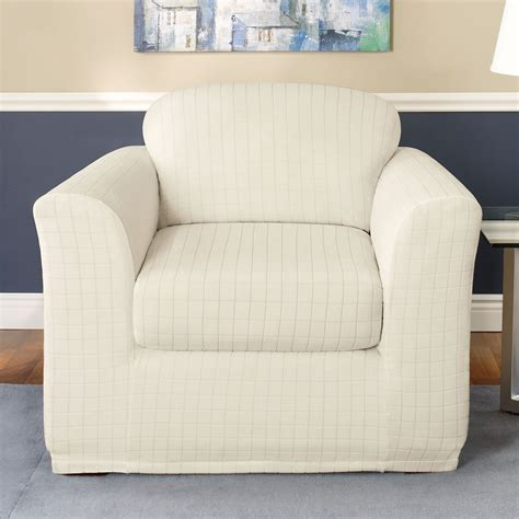 stretch slipcover for couch sure fit slipcovers stretch squares chair slipcover atg
