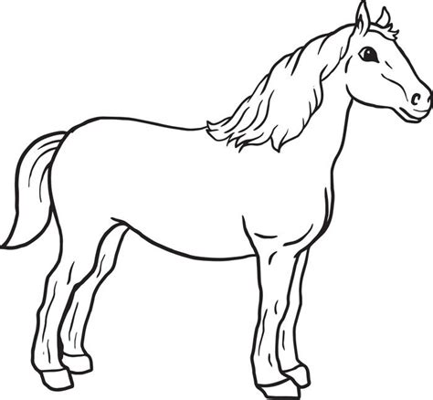 Simple Horse Coloring Page | free horse in barn coloring pages