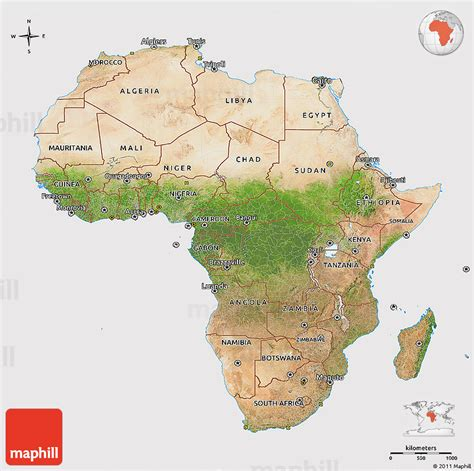 d maps africa satellite 3d map of africa cropped outside
