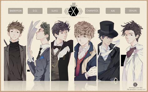 wallpaper exo cartoon exo k 221b baker st cartoon ver wallpaper by nookarn