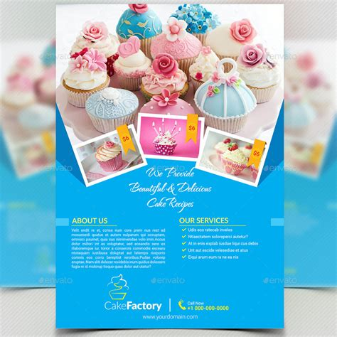 Cake / Bakery Flyer or Magazine Ad by aam360   GraphicRiver