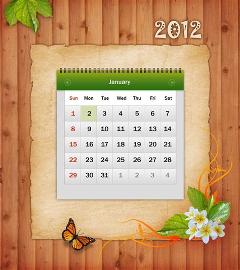 design calendar in photoshop tutorial design awesome 2012 calendar in photoshop