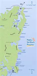 map of northern california beaches manly location manly northern beaches australia