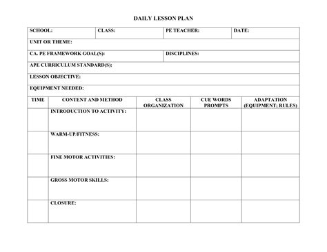 madeline lesson plan template blank madeline lesson plan template 6 free word excel pdf