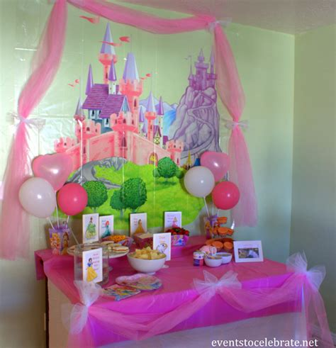 princess home decoration disney princess birthday ideas food decorations