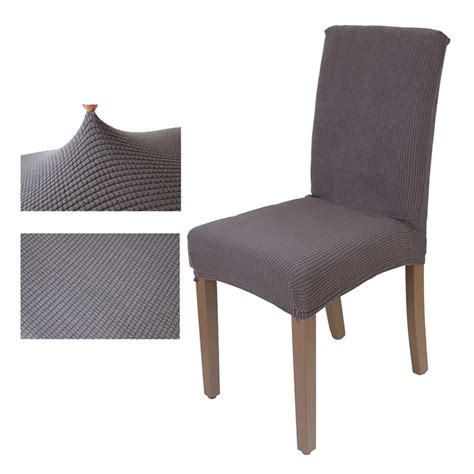 Washable Dining Chair Covers Aliexpress Buy Jacquard Checked Chair Cover Stretch Seat Chair Covers Washable Dining