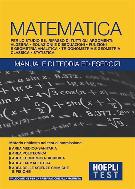 test matematica università hoeplitest it matematica