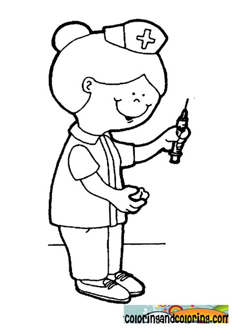 free coloring pages of nurse pictures