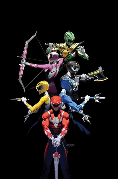 Moment Silhouette Original Bpom mar171402 mighty morphin power rangers 2017 annual 1 10
