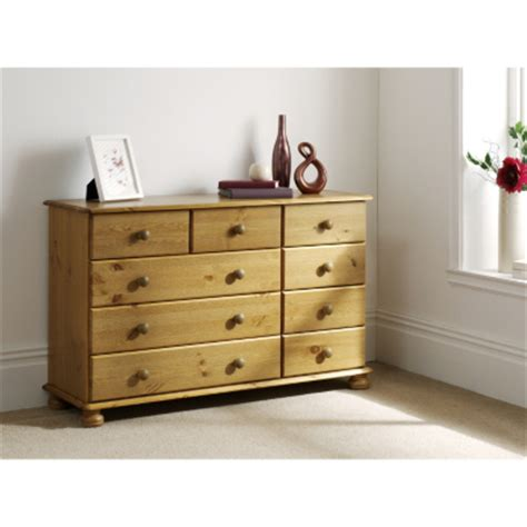 Asda Direct Hton Pine Wide Chest Of Drawers Special Bedroom Furniture Asda
