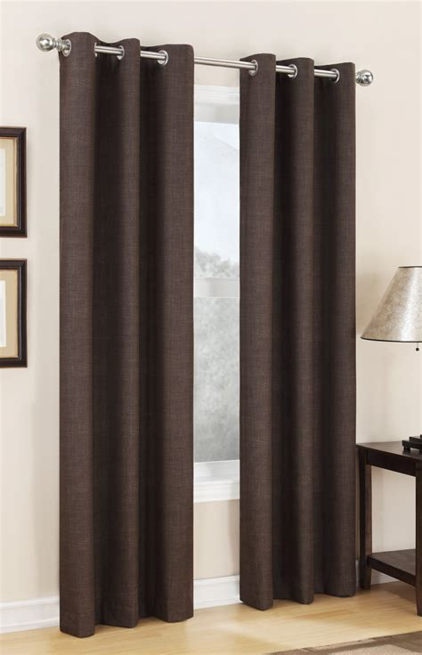 thermal grommet curtains carter thermal lined grommet panel chocolate s