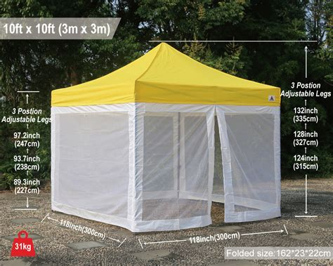 pop up cer awning screen room abccanopy commercial pop up canopy screen room 10x10