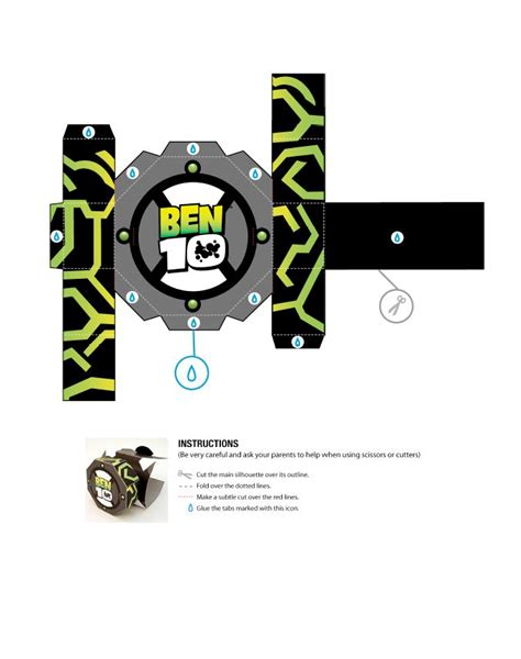 How To Make A Paper Ben 10 Omniverse Omnitrix - 155 best images about papercraft on