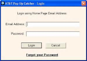 Field and password in password field login and cancel buttons below