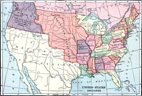 map of the united states in 1830 united states