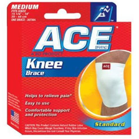 ace knitted knee support ace knitted knee support medium fsastore
