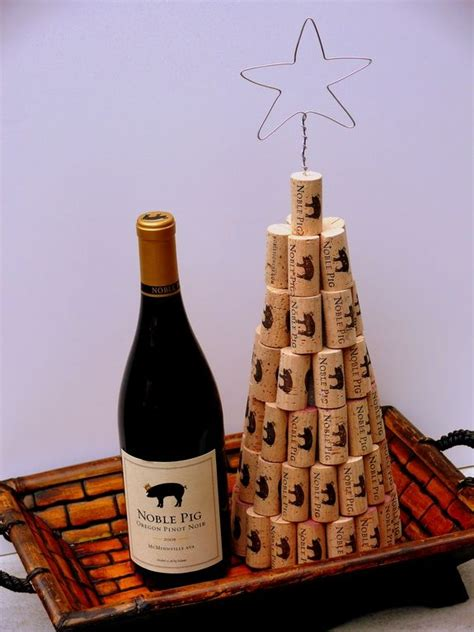 wine cork christmas tree wine and wine glasses pinterest