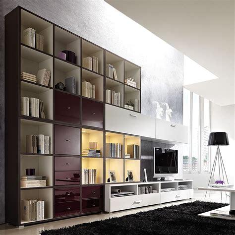 cube wohnwand wohnwand cube inklusive beleuchtung wei 223 brombeer