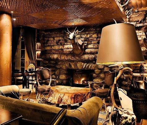 Cabin Themed Living Room by Lodge Decorating Ideas Fireplace Living Room Style
