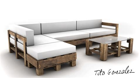 sofa coaching pallets coach sofa 3d model