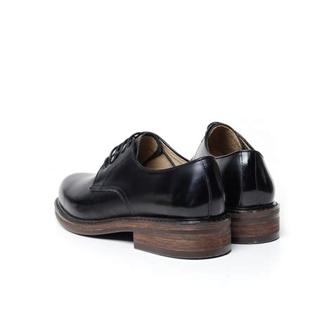 plain black shoes for s plain toe black leather open lacing oxford shoes