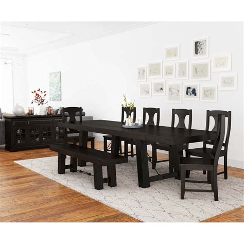 tirana rustic solid wood  piece large extensions dining